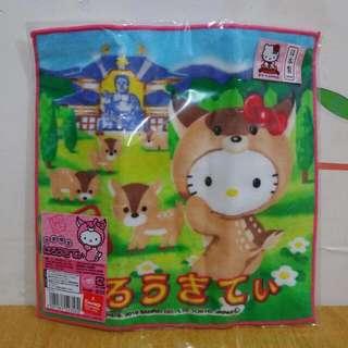限時特價 超抵價 正版 Hello Kitty 扮狗仔 方型毛巾 洗面巾 日本限定