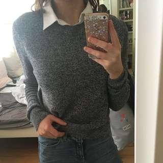 Topshop Collar/Jumper Top Size 10 AU