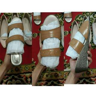 Wedges Bata Brown