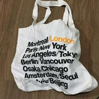 American apparel city tote bag
