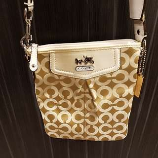 COACH Cross Body Bag Beige