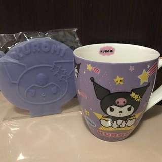 全新Kuromi 特大瓷杯連矽膠杯蓋