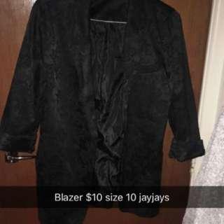 Black pattern Blazer