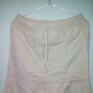 Long Skirt/ Rok Panjang Warna Krem