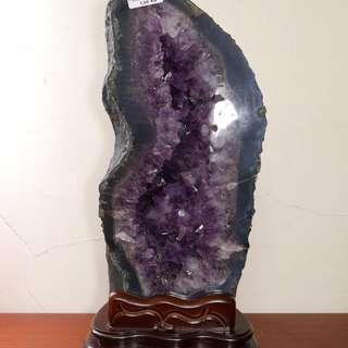 特級紫 瑪瑙邊紫晶洞 7kg
