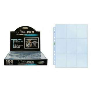Ultra Pro Platinum Series - Hologram 9- Pocket Pages (with 11 holes to fit most binders & files / folders) Ultrapro storage card sleeves