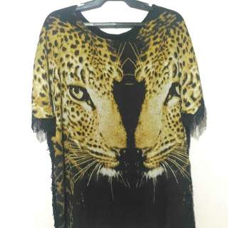 Oversized Tiger Chiffon top