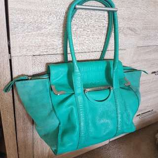Mimco Turquoise Handbag Large Bag