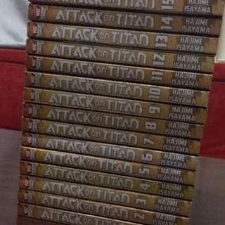 Attack on Titan Book No. 1 to 15