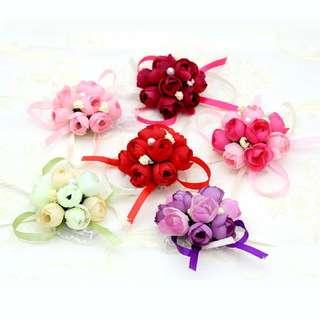 Wholesale Wedding Favour Bridesmaids Corsage Wrist Flower