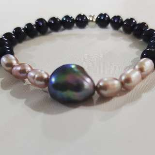 Mixed Pearls Bracelet Handmade Customised