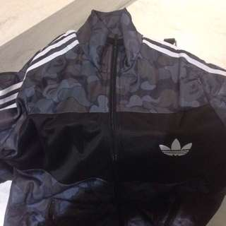 Bape X Adidas Firebird Camo Black