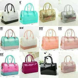 Inspired Furla Candy Color Jelly Transparent Bag