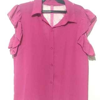 Pink Chiffon Office Blouse