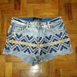 🌼Tally Weijl High Waist Aztec Shorts