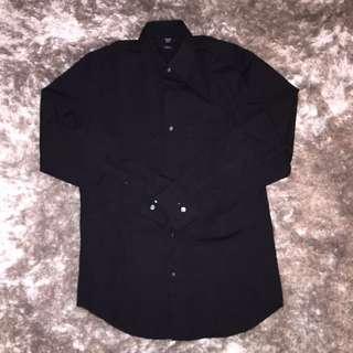 Men's Black Long Sleeve Shirt