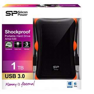Silicon Power Armor A30 1TB Shockproof External Hard Drive Black Free Delivery in all NCR Area Cash on Delivery Nationwide