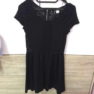 HnM Black Lace Dress