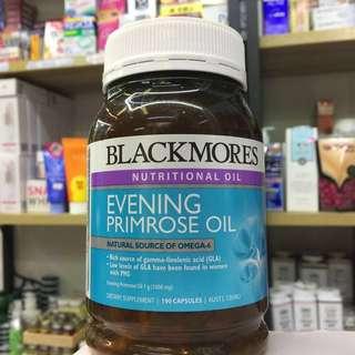 澳洲Blackmores Evening Primrose Oil 1000mg 月見草油軟膠囊 190粒