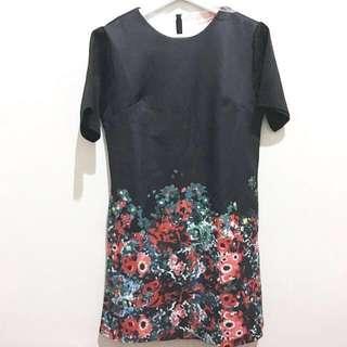 (New) Vornera Black Flower Dress