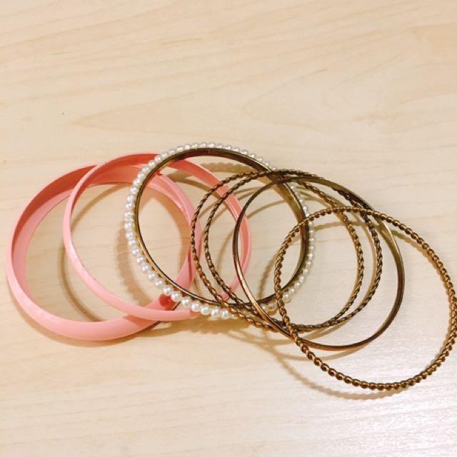 粉紅色珍珠手鈪