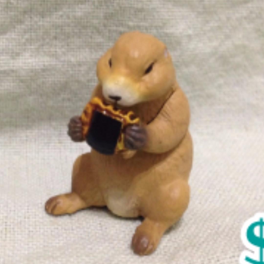 【轉蛋】愛吃鬼動物公仔-土撥鼠
