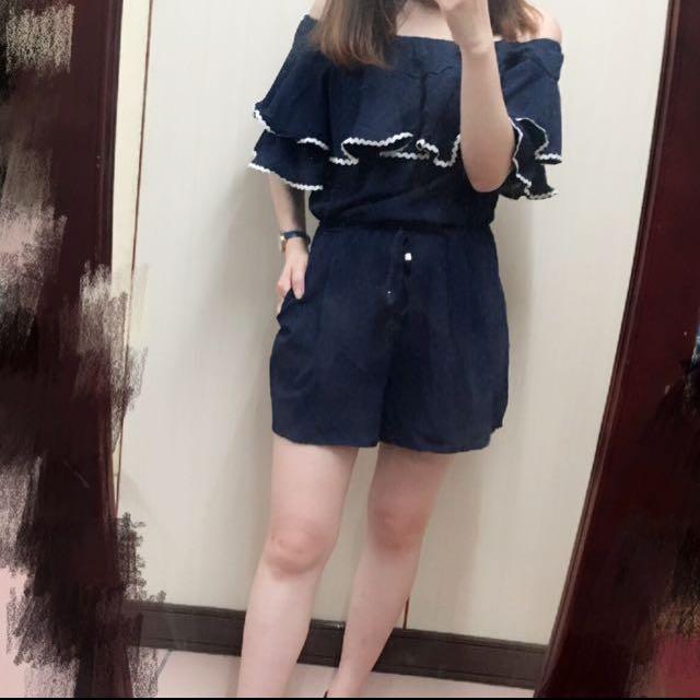 #雙十ㄧ女裝出清 顯瘦連身褲