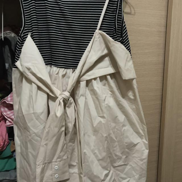 背心長板洋裝假兩件
