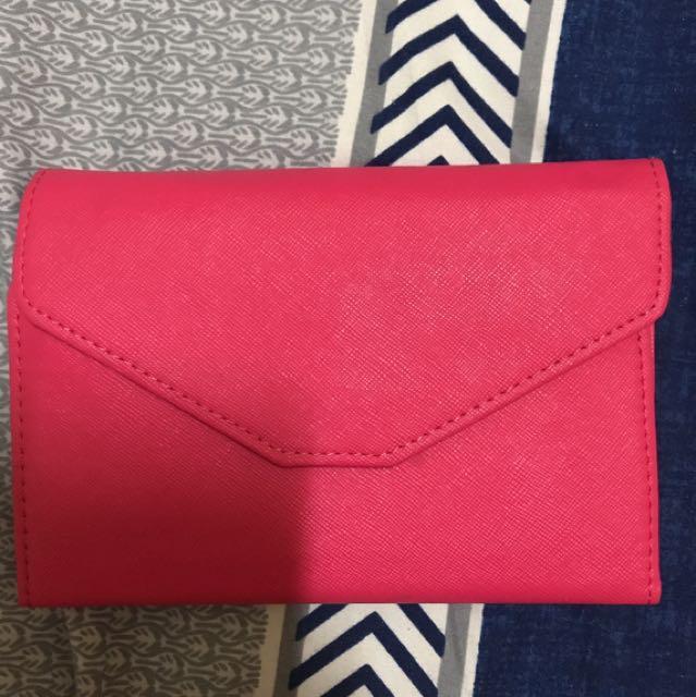 桃紅色多功能護照夾