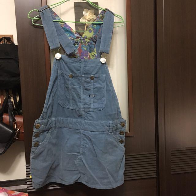 灰藍色 吊帶裙