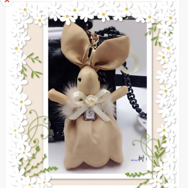 2f22ea7e100c 🎀 LAST PIECE FLASH SALES🎀 INSTOCK CHANEL INSPIRED HIGH QUALITY Rabbit No  5 Faux Fur Pearl Bag Charm, Women's Fashion, Bags & Wallets on Carousell