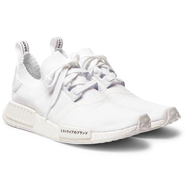 new styles d1f9c a55c4 Adidas Nmd R1 Primeknit Triple White