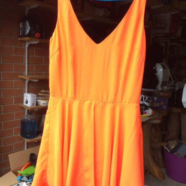 Ally fashion Fluoro orange playsuit jumpsuit size 8 bnwt