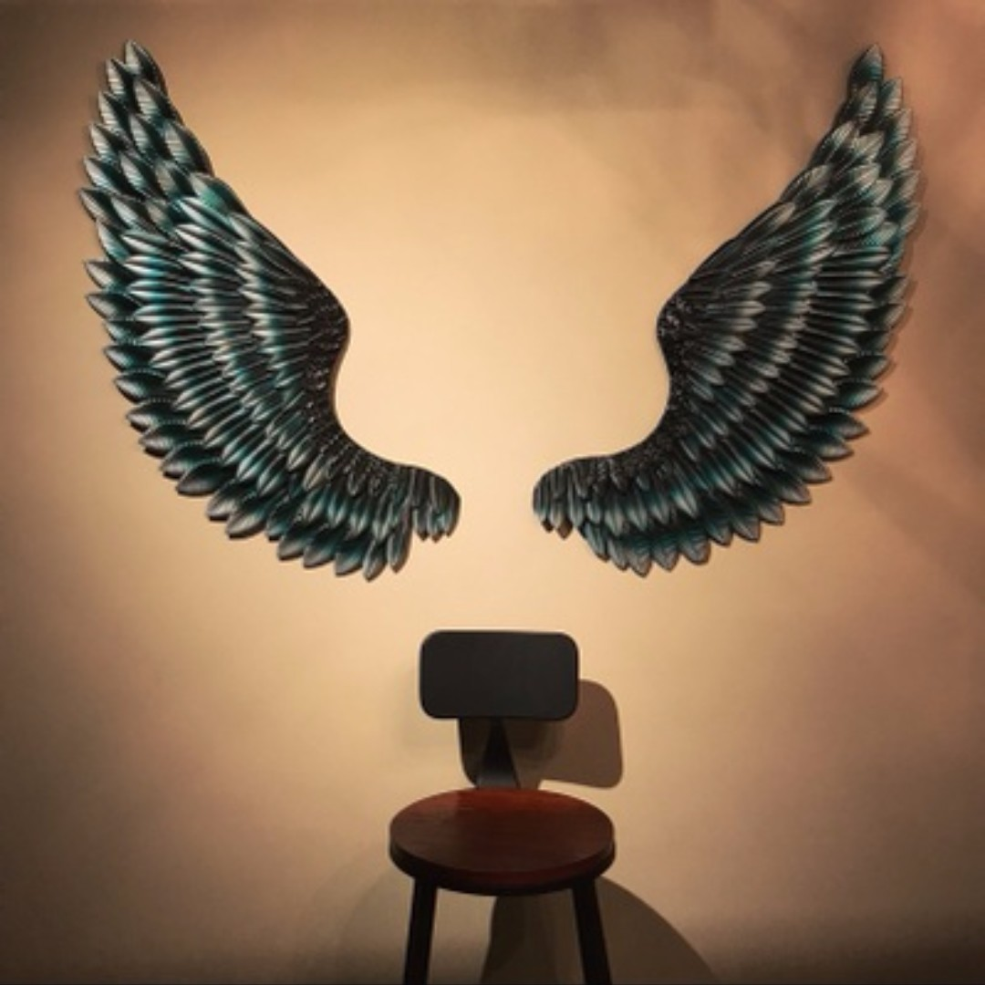Generous Metal Wings Wall Decor Contemporary - The Wall Art ...
