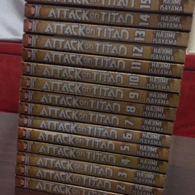 attack on titan book no 1 to 15 books comics manga on carousell