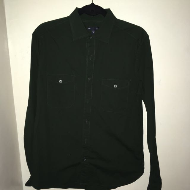 Authentic Gap Button Down (Olive Green)