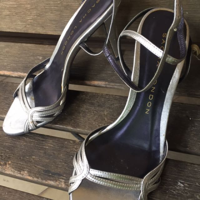 Authentic Sacha London Silver Shoes