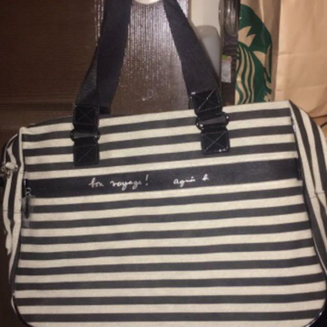 小b黑白條紋手提包(保證公司貨)真品
