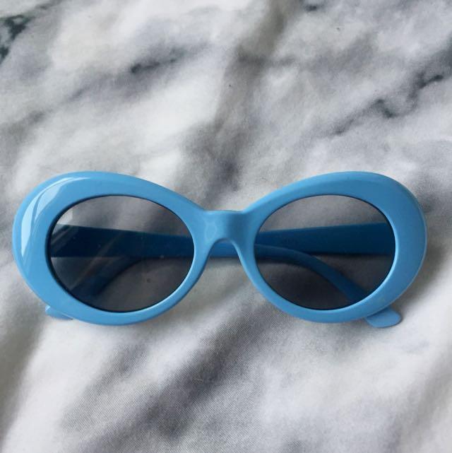 Baby Blue Sunglasses Kurt Cobain 90s Retro/Vintage Style