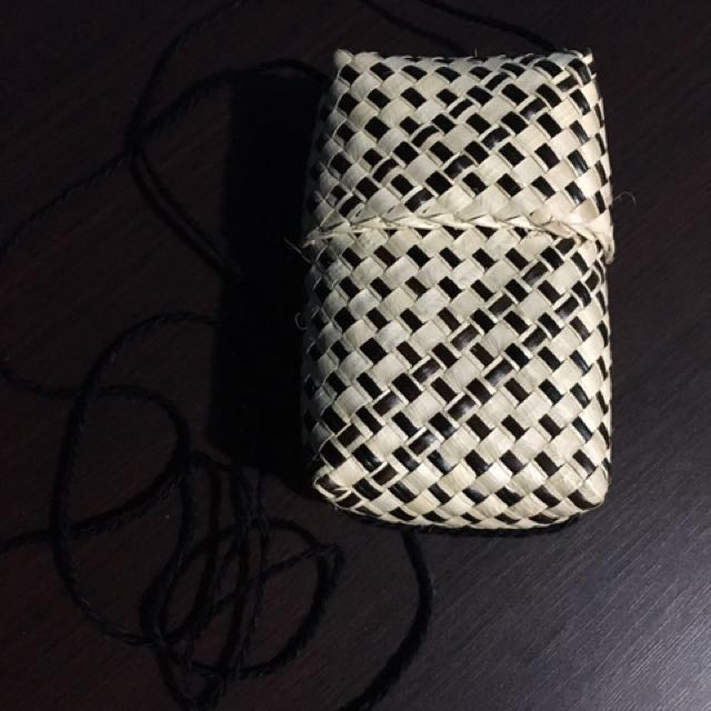 Banig weaved Coin Purse / Wallet with Lace