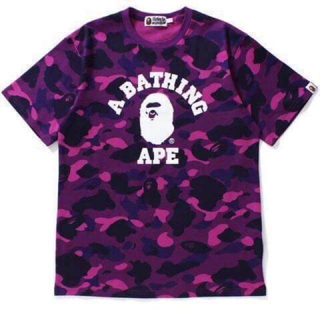 Bape Ape A Bathing Ape 1st Camo 紫迷彩 短T