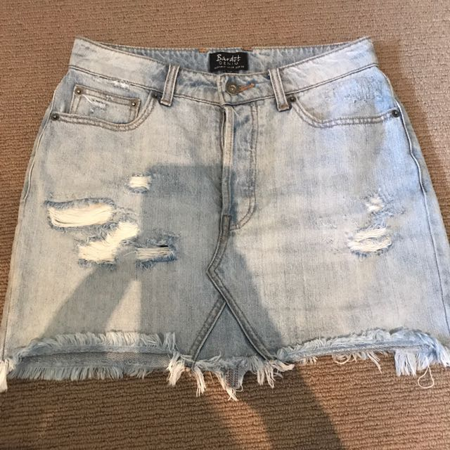 Bardot Denim Mini Skirt
