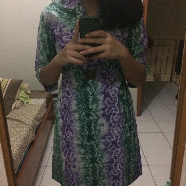 batik ombre dress