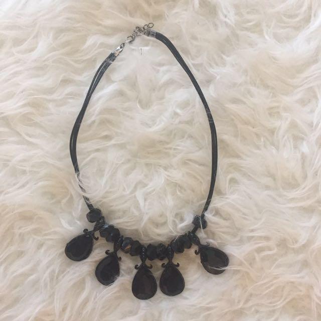 💜Black diamond necklace