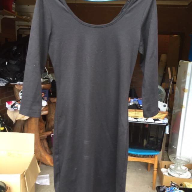 Black dress with lace back M medium