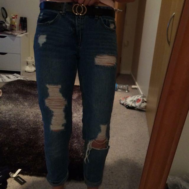 Blue boyfriend jeans
