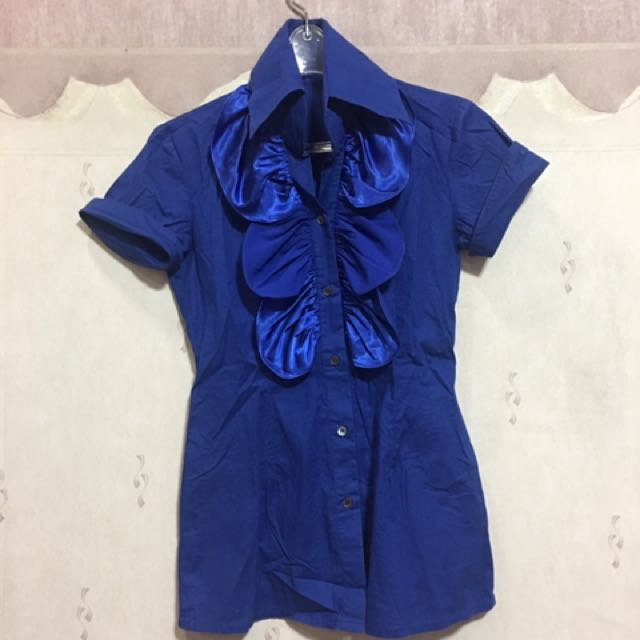 Blue Polo Top