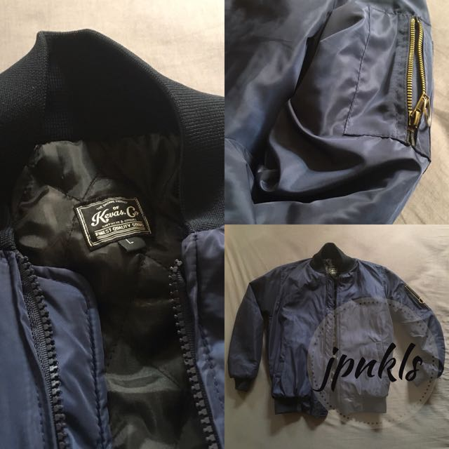 Bomber Jacket Navy - Kevas.co
