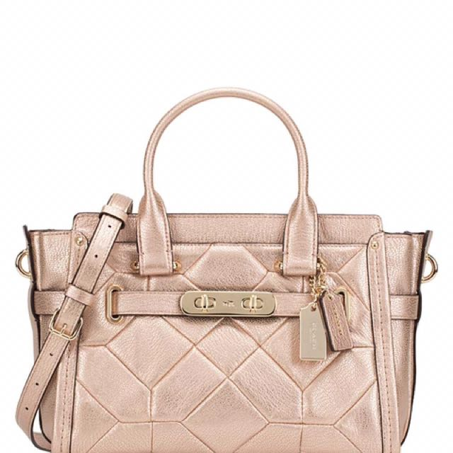 26f863aa51fb3 Brand New Coach Swagger 27 Patchwork Rose Gold