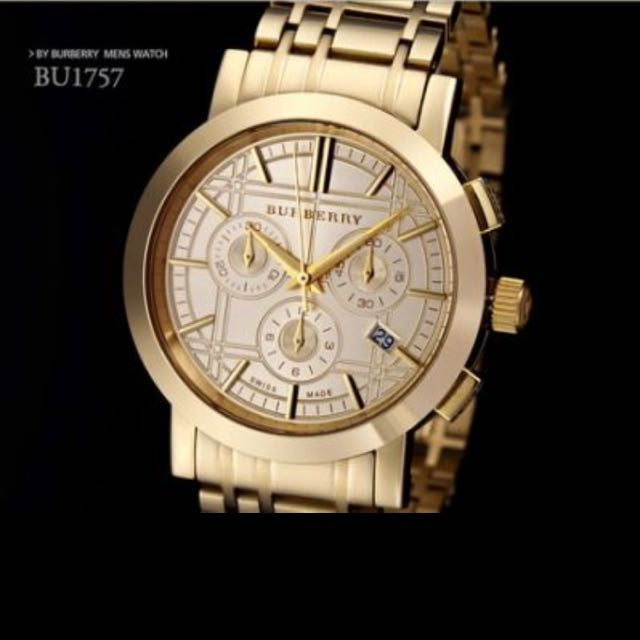 burberry gold watch men